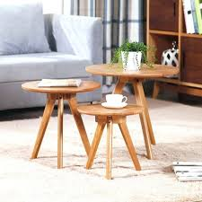tiny side table ikea style round coffee table wood small apartment living room modern minimalist sofa