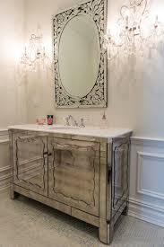 antiqued mirrored vanity