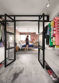 Walk In Wardrobe Design For Hdb Flats An Open Concept Hdb Flat With An Exposed Bedroom And Glass