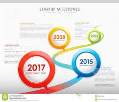 Timeline Template Infographic Startup Milestones Timeline Template Stock Illustration