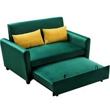 green sofa beds living room