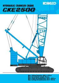 Cke 2500 Hydraulic Crawler Crane Kobelco Cranes Pdf