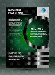 Green Layouts Green And Black Brochure Design Stock Vector Image