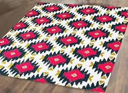 rana hand hooked area pink and navy rug image 0 trocadero boho modern geometric pastel area