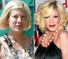 shocking celebrities without makeup tori spelling lol tori is just proving that the older you get the more you look like your grandfather
