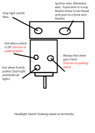 headlight dimmer switch wiring ecj5 made two diagrams in photoshop to confuse less people my chicken scratch