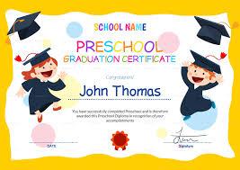 Sample Graduation Certificate Template New Pre As Sample Graduation
