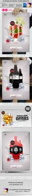 template for advertisement a3 drinks promotion advertisement poster template by quickandeasy