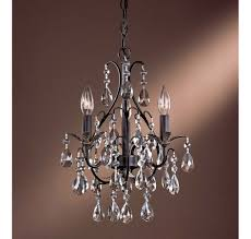 mini chandelier glass crystals for natural modern interior design with brown wall colormake it seems proportionate with modern chandelier inside it has