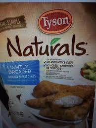 Tyson Naturals Lightly Breaded Chicken Strips Lightly Breaded Chicken Breast Strips Tyson Naturals