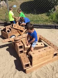large outdoor wooden blocks designs
