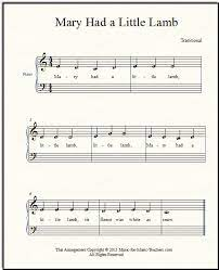 Mary had a little lamb moderato. Mary Had A Little Lamb For Beginner Piano How To Add Chords