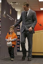 peyton manning kids. Denver Broncos Quarterback Peyton Manning\\\u0027s Son, Marshall, Stands By His Father Manning Kids