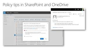 Dlp Office 365 Data Loss Prevention In Onedrive For Business Sharepoint
