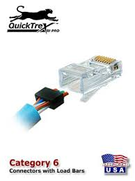 similiar cat 6 to printer 6 wire keywords quicktrex® category 6 8 conductor modular plugs w loadbar bag of