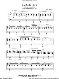 ich grolle nicht sheet music schumann ich grolle nicht sheet music for piano solo