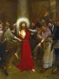 jean beraud painting christ at the column by jean beraud