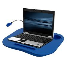 laptop lap desk portable tray with foam cushion adjule led desk light and