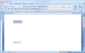 Micorsoft Office Word Create A Cross Reference Cross Reference Documentation