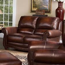 furniture world. vendor 1919 james traditional leather loveseat with rolled arms and nailhead trim - becker furniture world