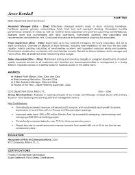 resume examples clothing retail stores objective for resume in retail