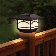 Outdoor Lighting: 4x4 Deck Post Lights Solar Powered Deck Post Cap Lights  Solar Post Toppers