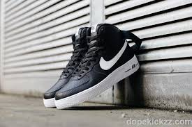 kw nike air force 1 mens tops shoes microperf orated leather black white
