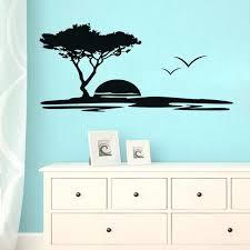 ocean themed wall decals sunset wall sticker sea wall decals kid room wall decor bedroom ocean