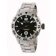 nautica watches overstock com the best prices on designer mens nautica men s silver stainless steel black dial quartz watch