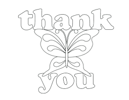 Printable Hang Tags Children Coloring Thank You Card Page Birthday