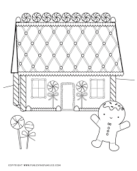 Coloring pages for kids houses and homes coloring pages. Gingerbread House Coloring Pages Fun Loving Families