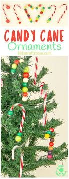 DIY CANDY CANE TREE ORNAMENTS - this pipecleaner and bead Christmas craft  for kids is super