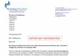 Section 75 Employer Debt Notification Letters Sent