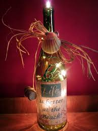 Decorative Lighted Wine Bottles Life is Better at the Beach lighted wine bottle 2
