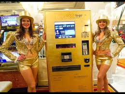 Gold Bar Vending Machine Gorgeous Gold ATM Machine Launched In Dubai YouTube