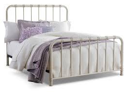 Metal Bedroom Furniture Tristan Queen Metal Bed Antique White The Brick
