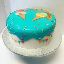 Luvs Cakes Ice Cream Theme Birthday Cake Facebook