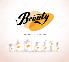 Cosmetic Label Design Template Vector Cosmetic Insignia Isolated On White Background Eco Product