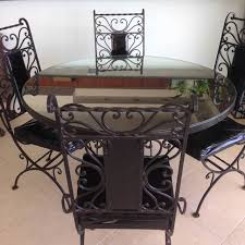 wood and wrought iron furniture. Antarenni Wrought Iron Chairs And Wood Top With Mirror Parlour  Table Wrought Iron Furniture