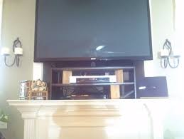 flat screen tv on wall over fireplace. we do have another cable outlet on opposite wall. also need to hide exsisting electronics, box, router, dvd player ect. flat screen tv wall over fireplace n