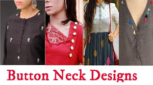 Latest Button Design Latest Neck Designs With Button Best Neck Designs Fashion Alert