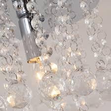 Unimall Modern Kristall Kronleuchter Deckenleuchte Klein