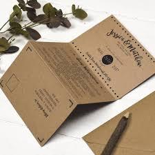 Wedding Invitation Folding Brush Lettered Folded Wedding Invitation By Russet And Gray
