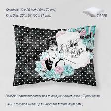 Designer art bedding set, Breakfast at Tiffany\u0027s mint green and ...