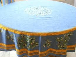 french tablecloth round french cotton tablecloth imported from is inches round and is shown on a french tablecloth round round blue cotton