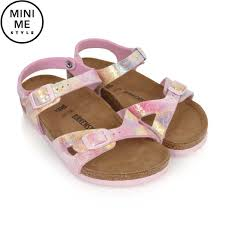 Designer Birkenstock Sandals Birkenstock Pink Watercolour Rio Sandals Kids Designer