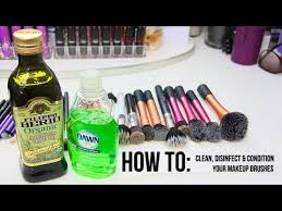 how to deep clean disinfect condition your makeup brushes