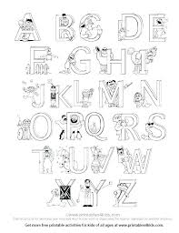 Az Alphabet Coloring Pages Free Printable Coloring Pages A Z