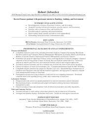 Entry Level Investment Banking Resume Free Resume Example And
