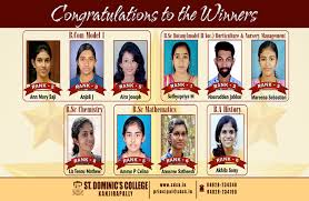 St Dominics College Kanjirappally Sd College Degree Honours